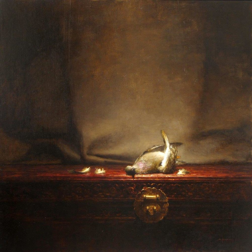Pigeon - 30 x 30 inches - Oil on panel - 4/2009