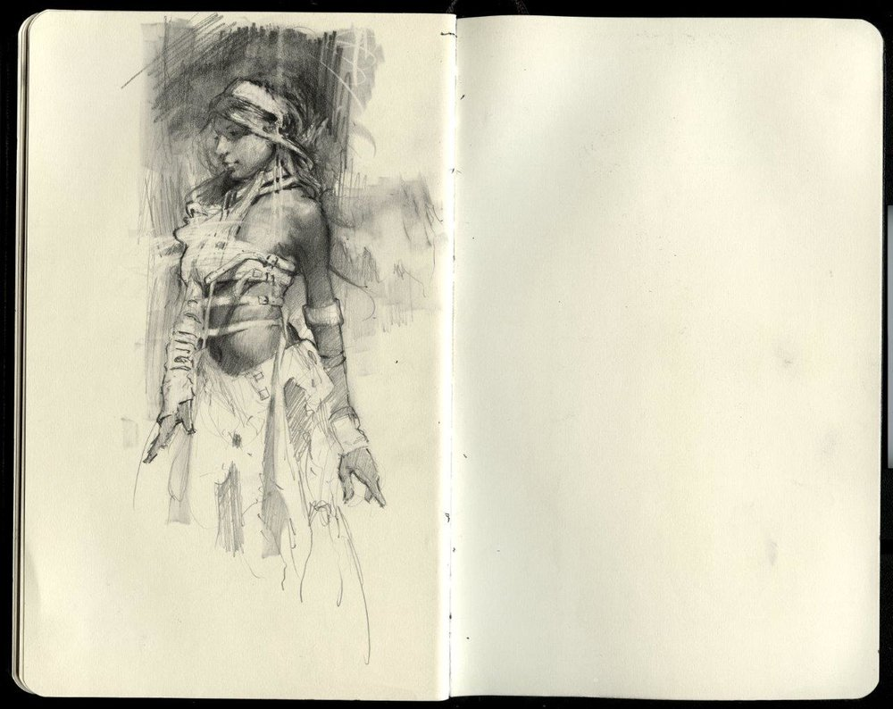 Sketchbook Excerpt - Graphite on Moleskine