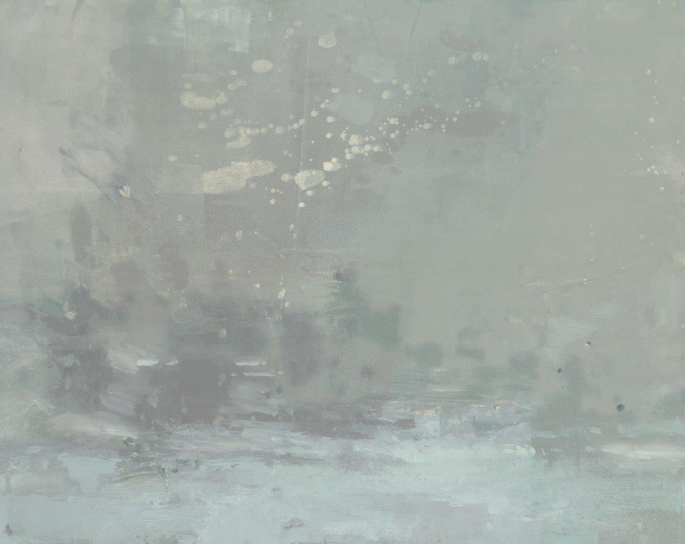 Blizzard from the Valley Floor - 8 x 10 inches - Oil on Panel - 4/2016