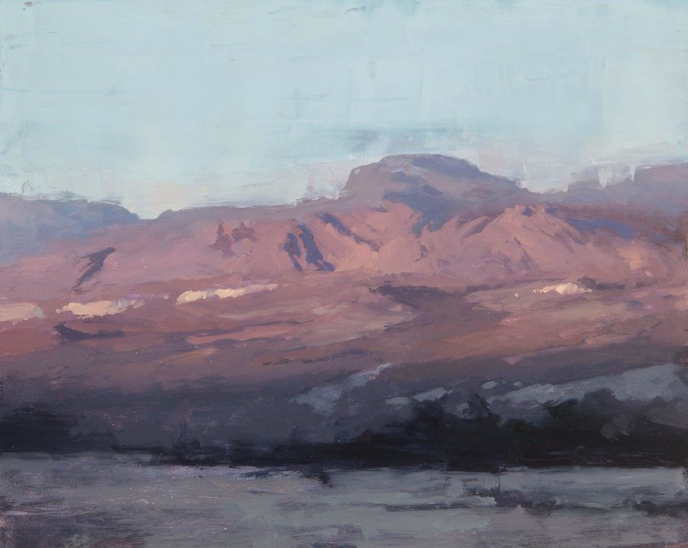 Death Valley Evening - 9 x 12 inches - Oil on Panel - 4/2016