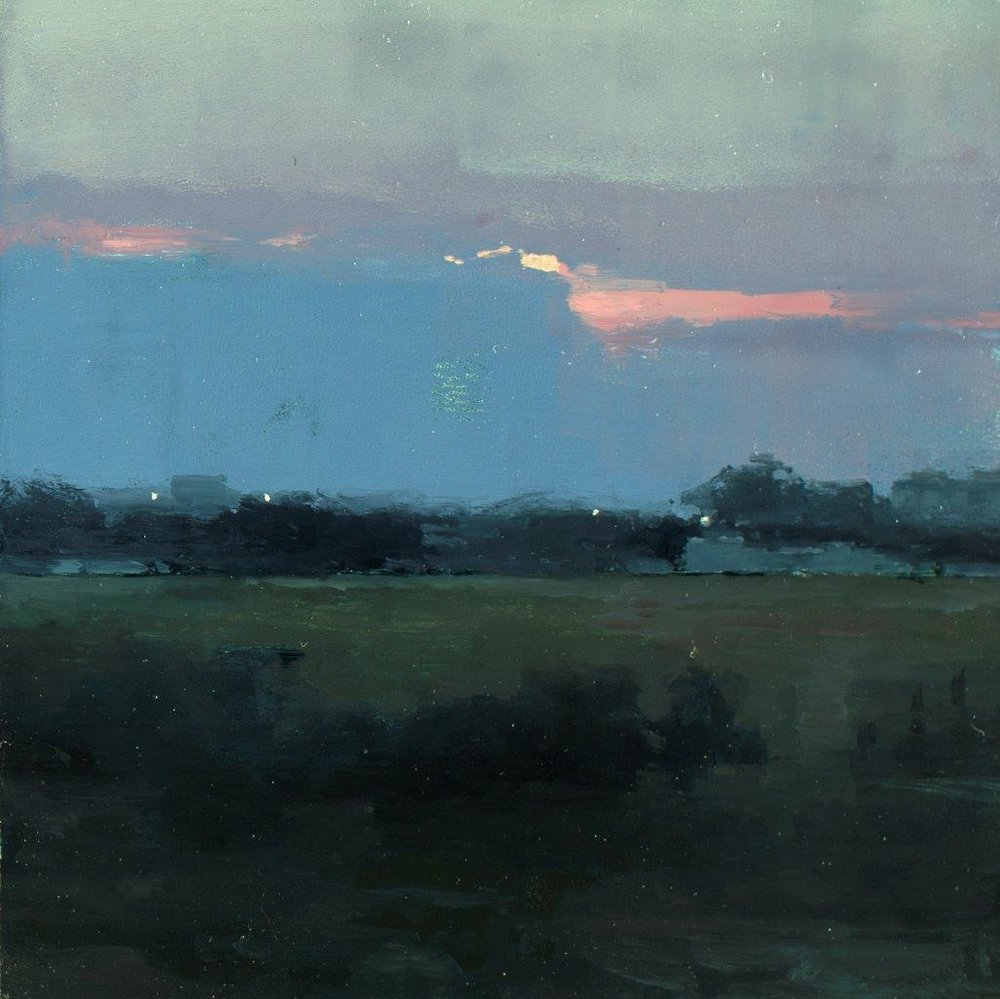 Atmosphere 2, Vicino a Taranto - 6 x 6 inches - Oil on Panel - 6/2014