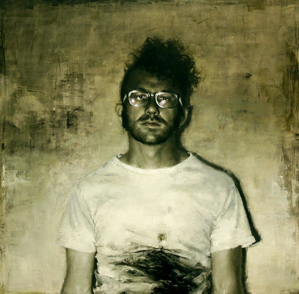 Untitled (Self Portrait) - 36 x 36 inches - Oil on Panel - 4/2010