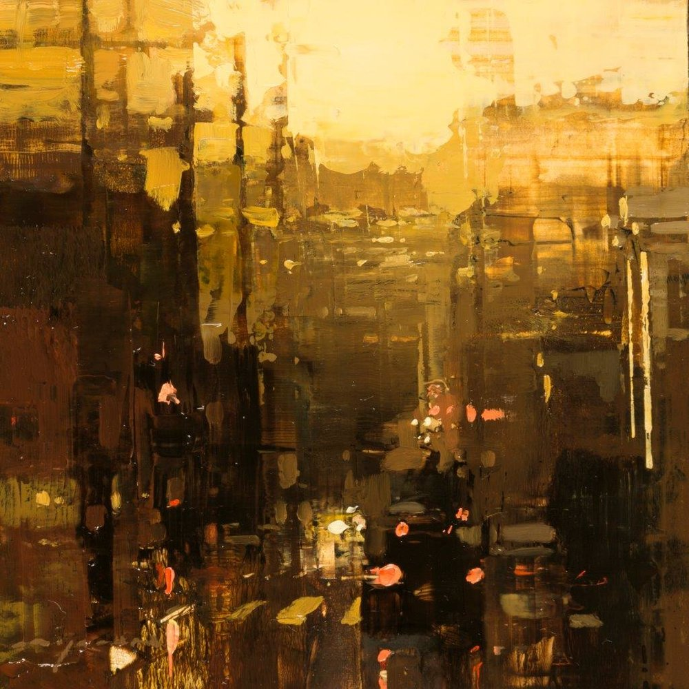 Cityscape - Composed Form Study 26 - 6 x 6 inches - Oil on Panel - Nov-16