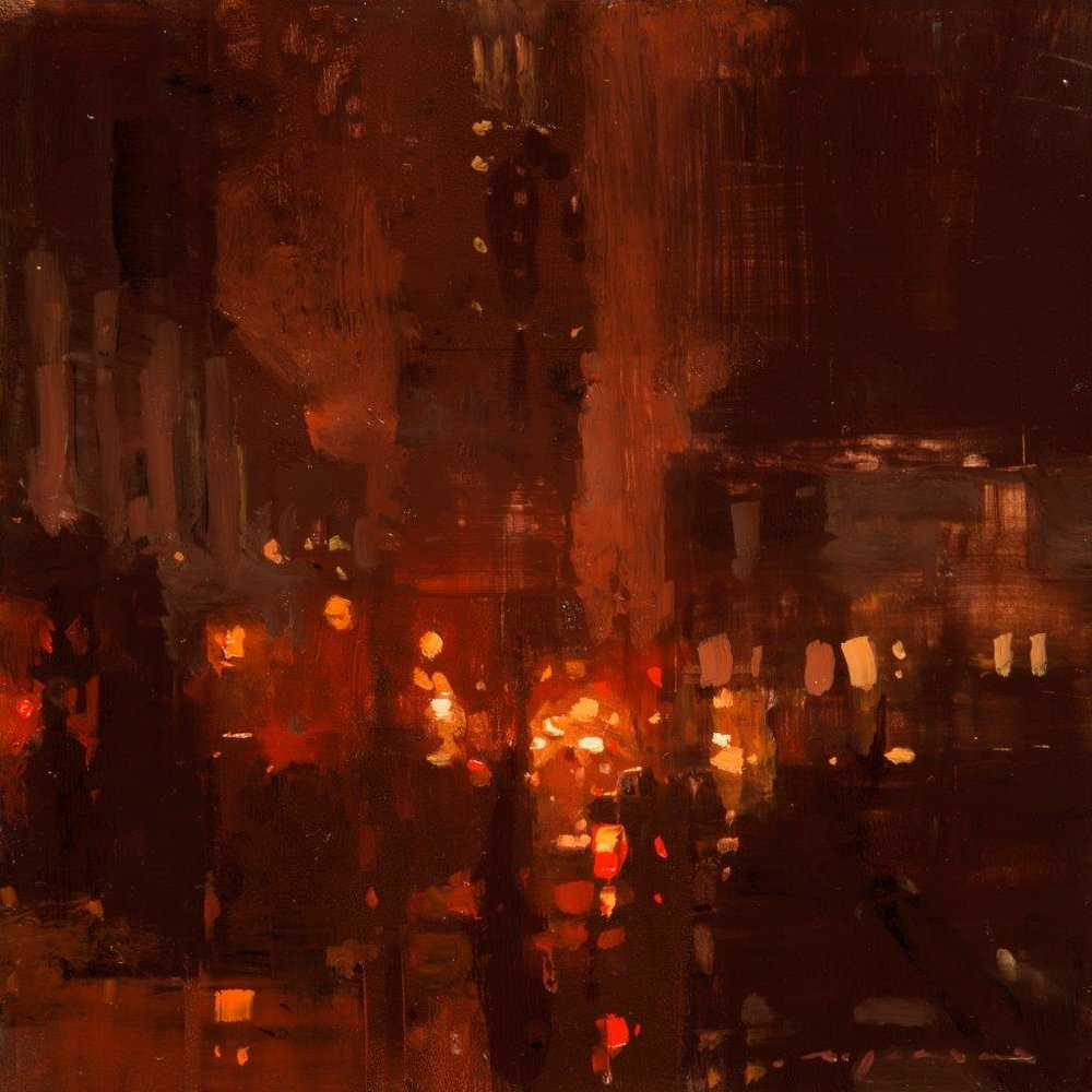 Cityscape - Composed Form Study 27 - 6 x 6 inches - Oil on Panel - Nov-16