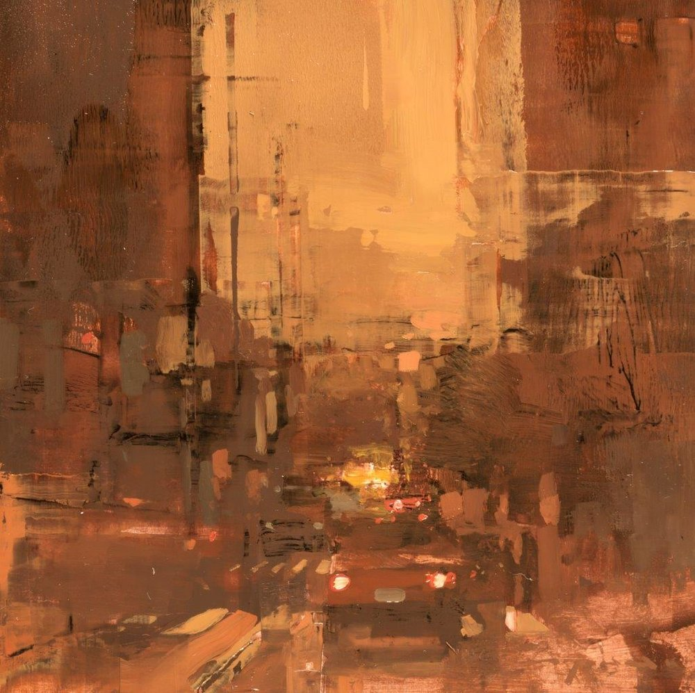 Cityscape - Composed Form Study 28 - 6 x 6 inches - Oil on Panel - Nov-16