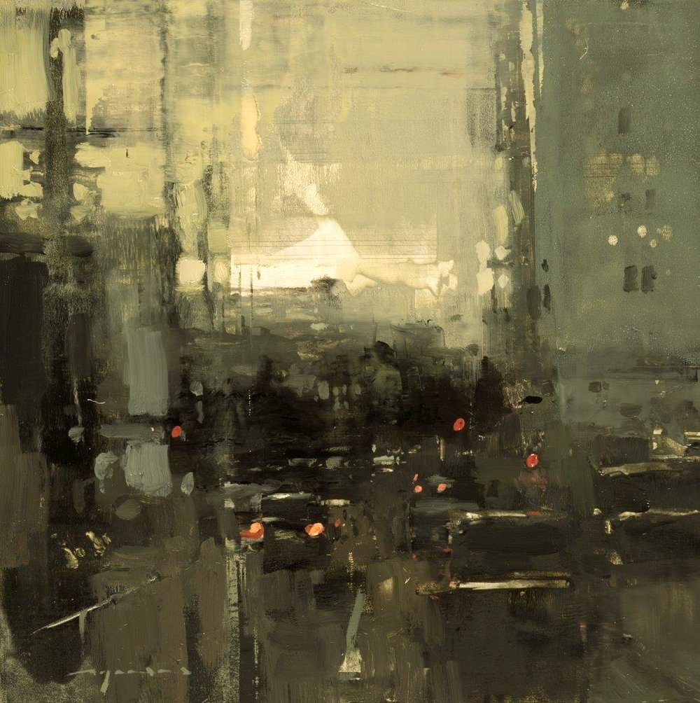 Cityscape - Composed Form Study 29 - 6 x 6 inches - Oil on Panel - Nov-16