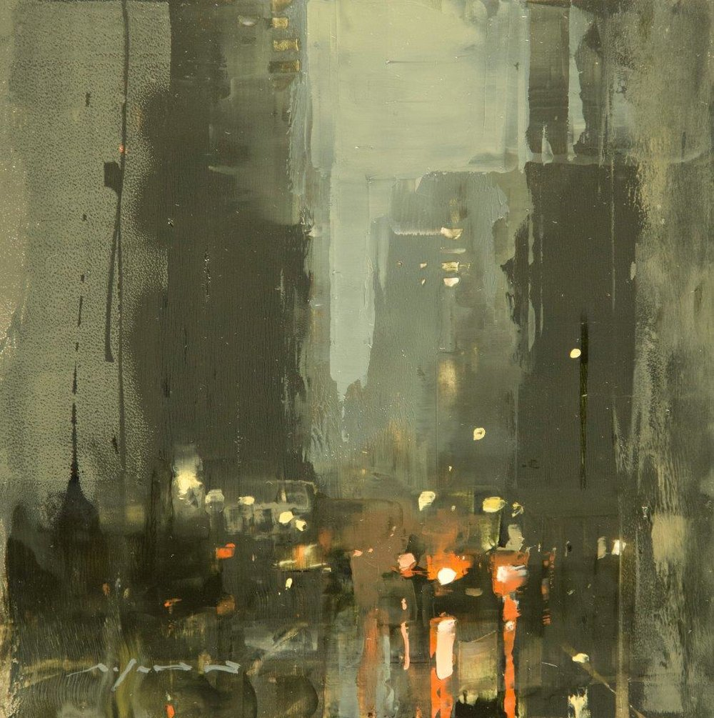 Cityscape - Composed Form Study 31 - 6 x 6 inches - Oil on Panel - Apr-17