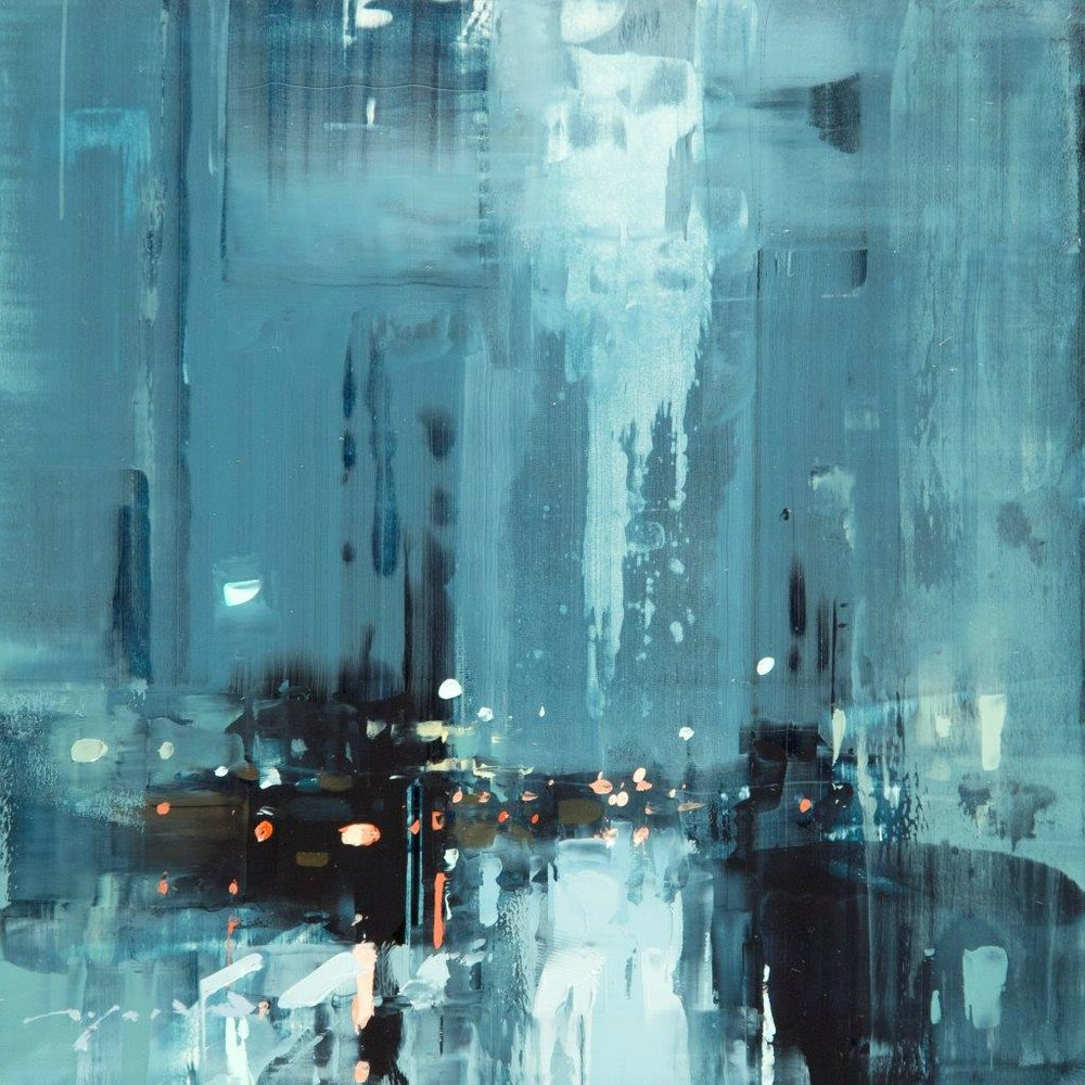 Cityscape - Composed Form Study 32 - 6 x 6 inches - Oil on Panel - Apr-17