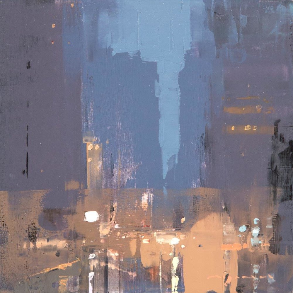 Cityscape - Composed Form Study 33 - 6 x 6 inches - Oil on Panel - Apr-17