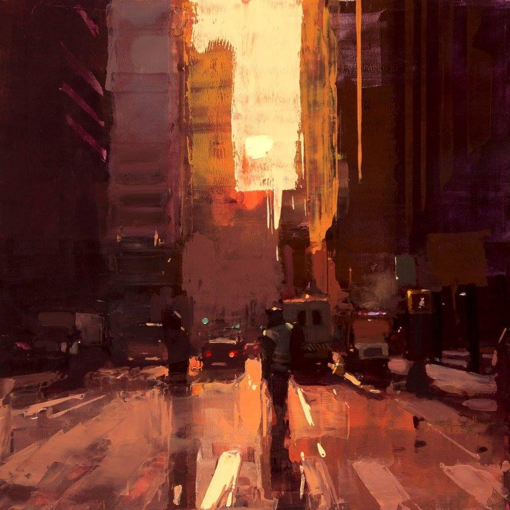 New York Morning - 12 x 12 inches - Oil on Panel - Feb-15