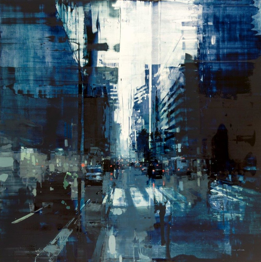 NYC 24 - 36 x 36 inches - Oil on Panel - Apr-16
