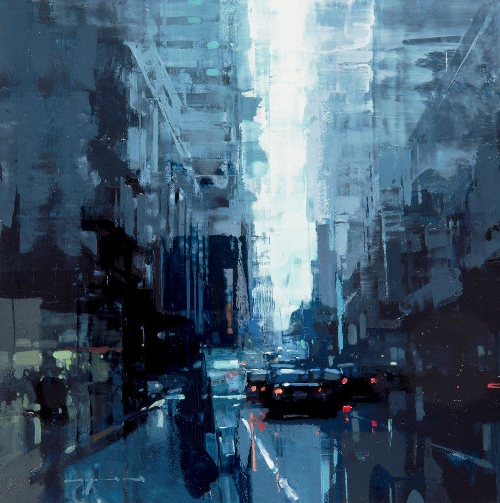 SF in Blue - 12 x 12 inches - Oil on Panel - Mar-16
