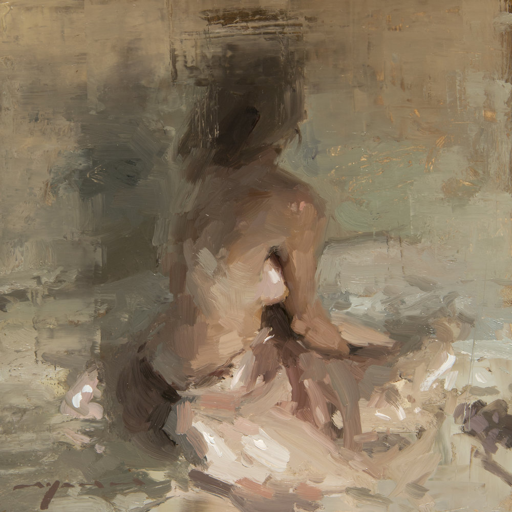 Figure - Composed Form Study 5 - 6 x 6 inches - Oil on Panel - Jan-17