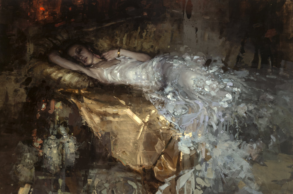 Nocturnal Levette - 26 x 39 inches - Oil on Panel - Nov-16
