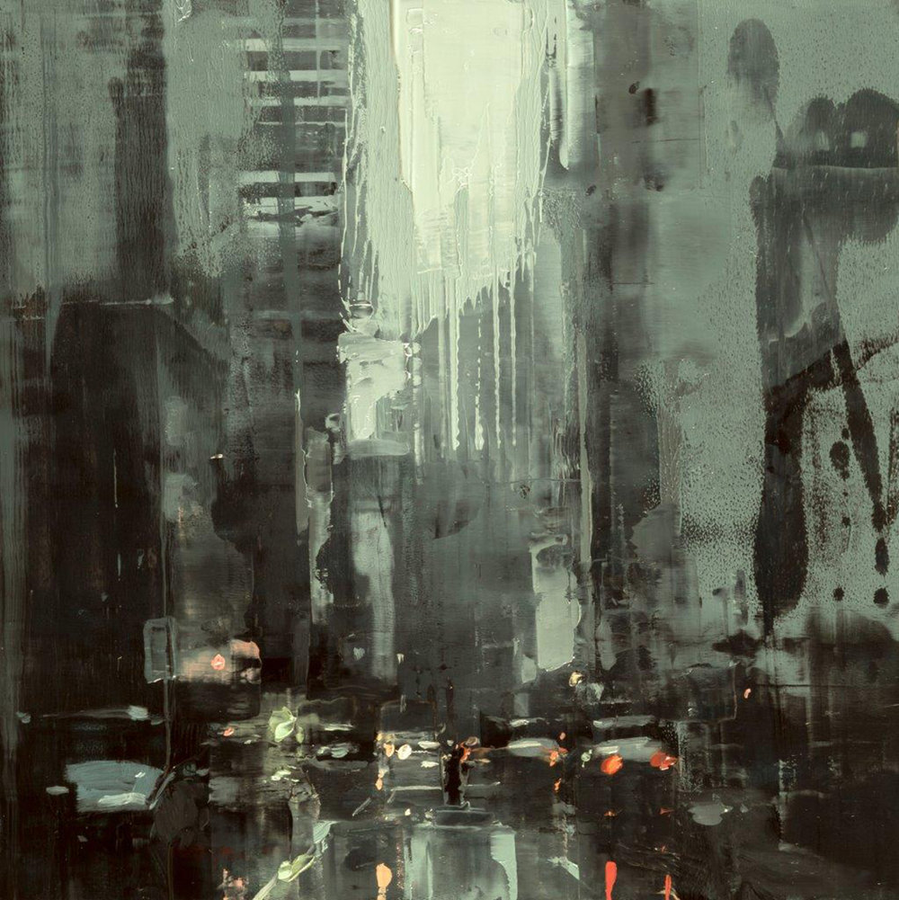 Cityscape - Composed Form Study 36 - 6 x 6 in. - Oil on Panel - Aug/2018