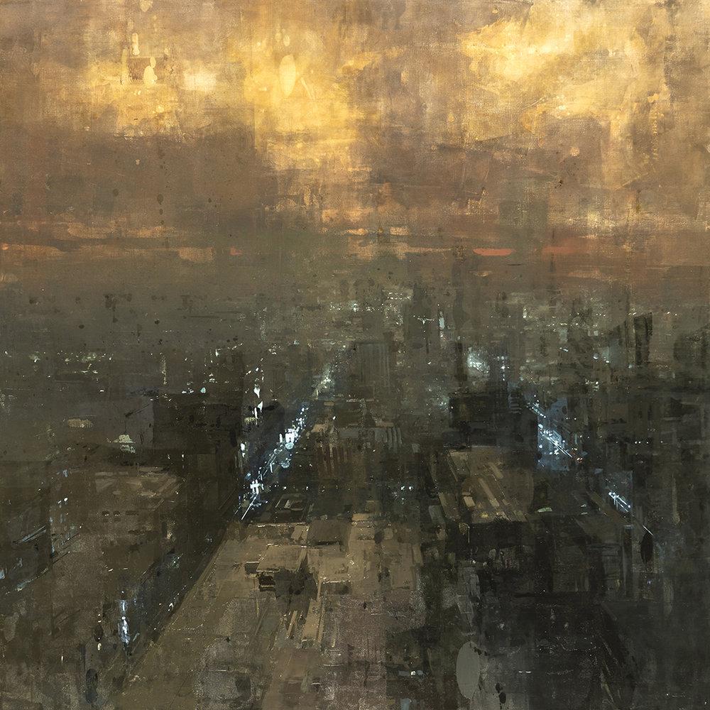 """The Metropolis"" - 36 x 36 in. - Oil on Panel - 1/2019"