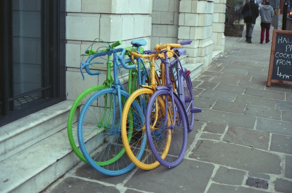 66/366 - Colourful bikes in Headingley