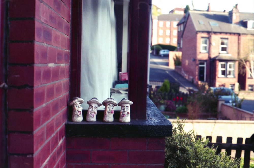 125/366 - Silly ornaments on our neighbours window that make me smile