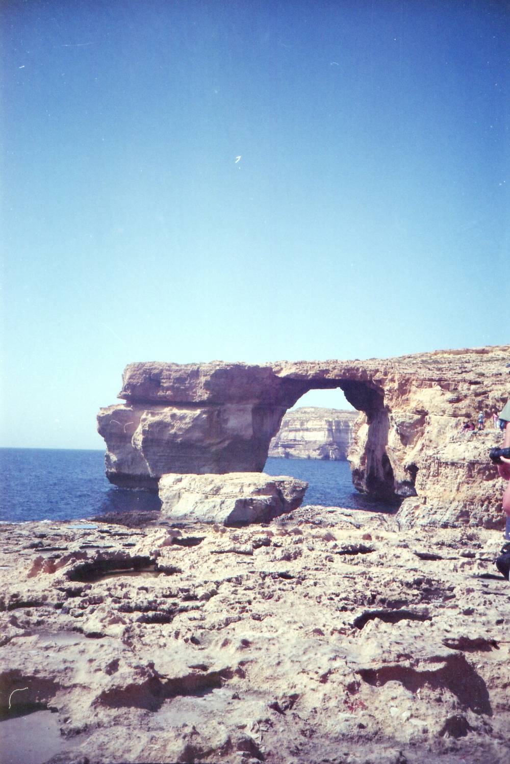 144/366 - Azures Window on the island Gozo... it was so pretty in person and we even went on a little boat around the other side which was so fun! What a great day.