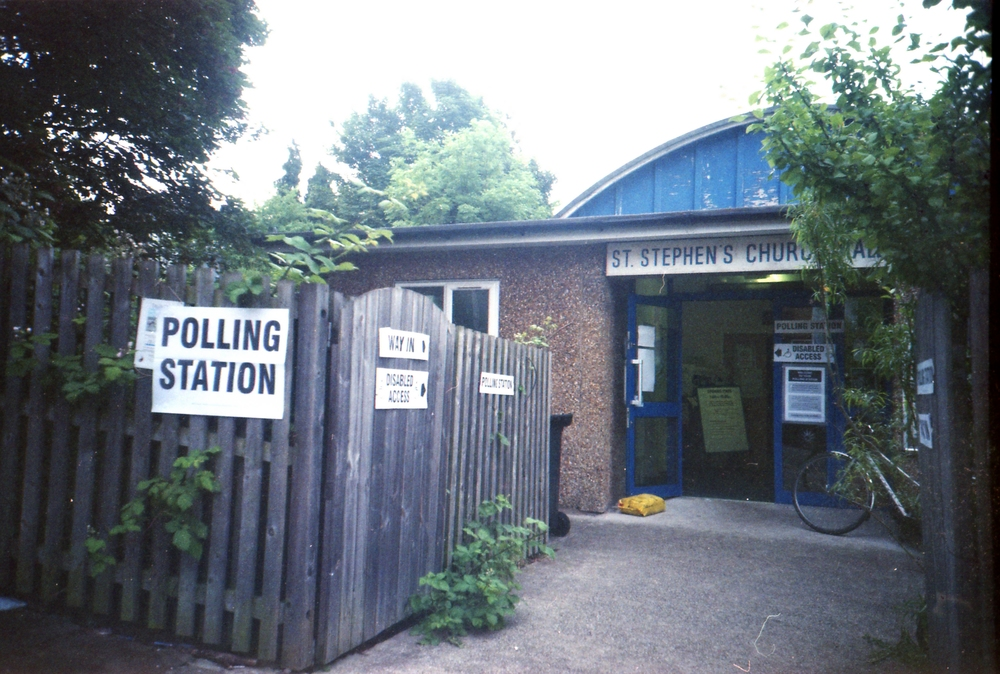 175/366 - The day of the referendum... I remember trying to feel hopeful taking this and also kind of sad there wasn't a dog outside so I could take part in the dogs at polling stations hashtag.