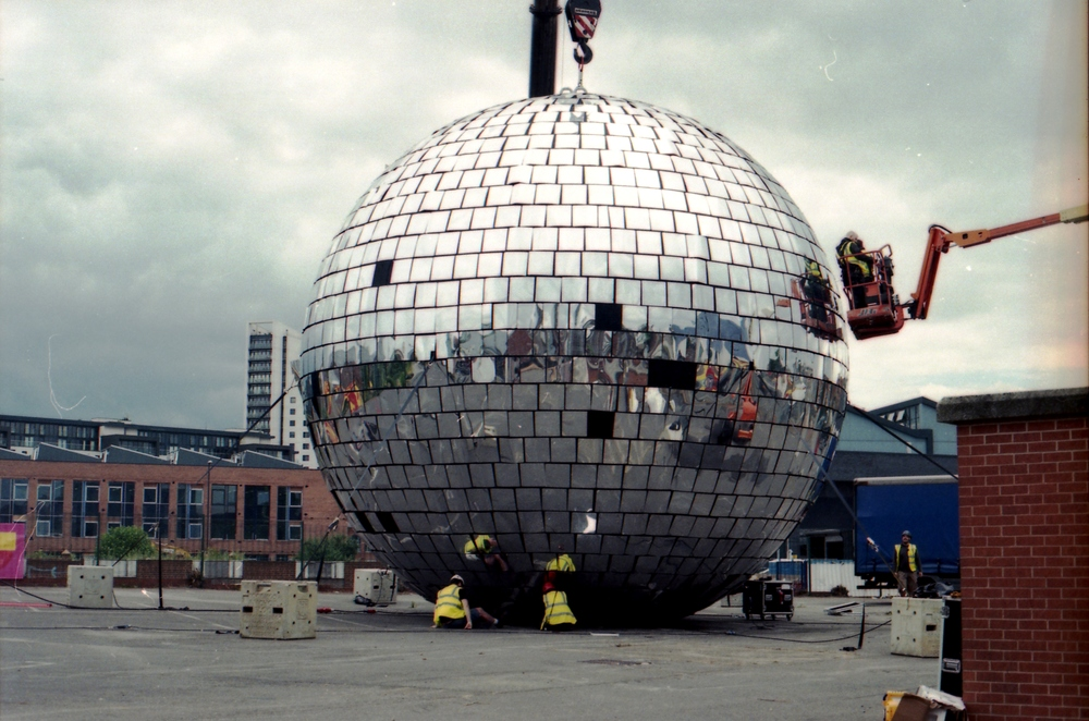 182/366 - Ever wondered how big the worlds biggest disco ball is... well here you go. Its pretty big ha. Shame the weather was so grey though.