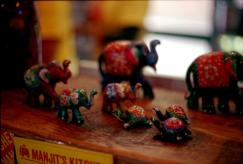 288/366 - I got a sneaky paneer wrap from Manjits Kitchen in the Market - how cute are these ornaments.