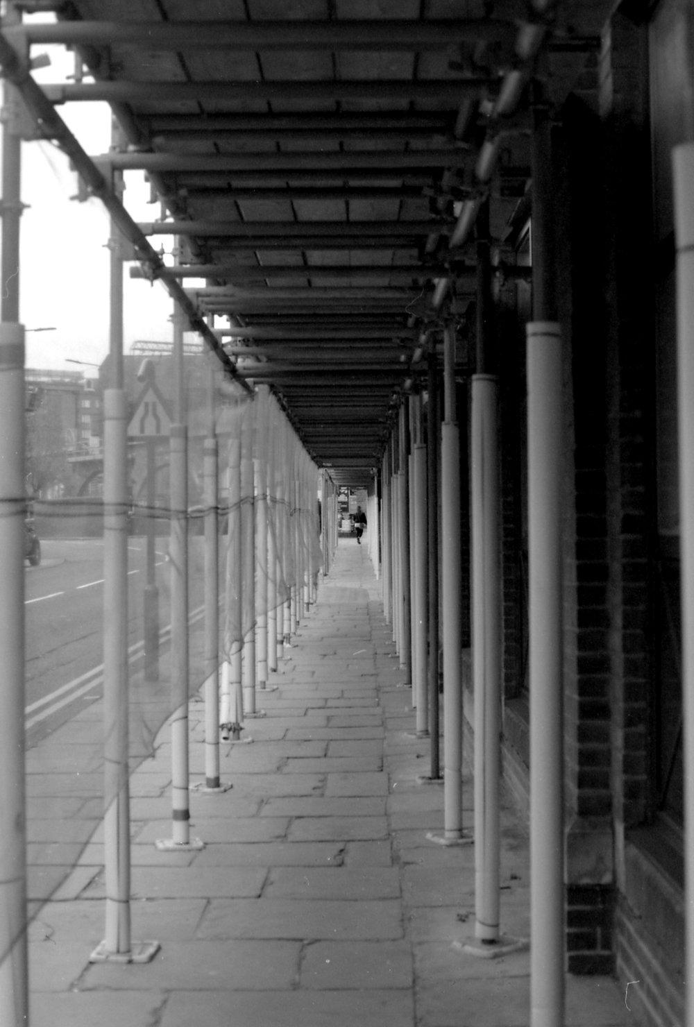 301/366 - Walking through some scaffolding and enjoying the framing.