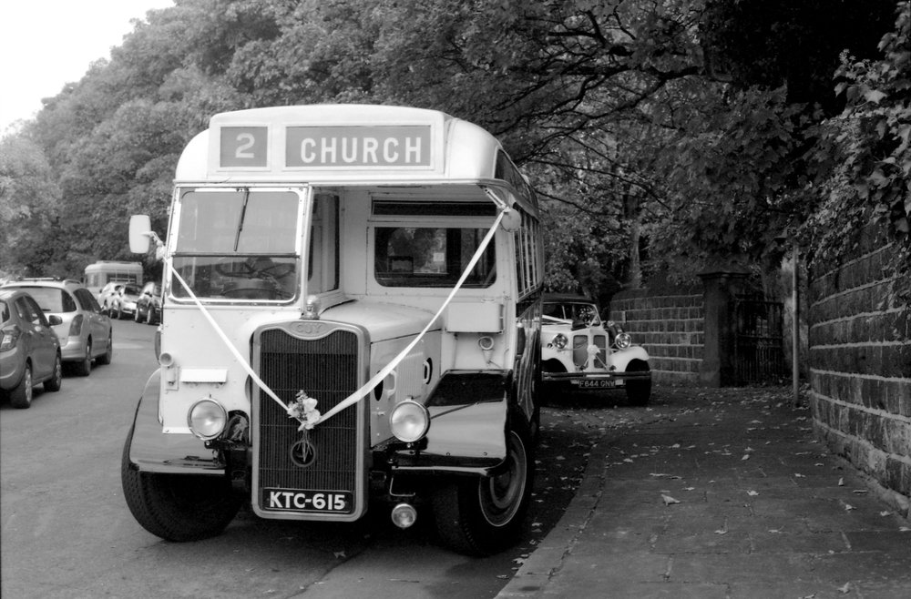 303/366 - Wedding bus and car spotted outside our local church