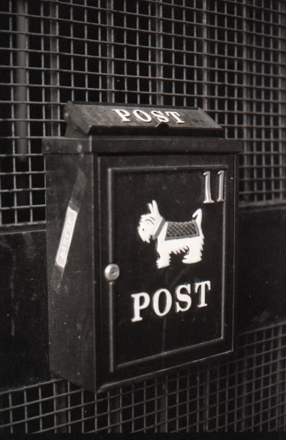 350/366/2016 - A cute post box spotted in Leeds under a bridge. I have no idea who the post is for but I love it.
