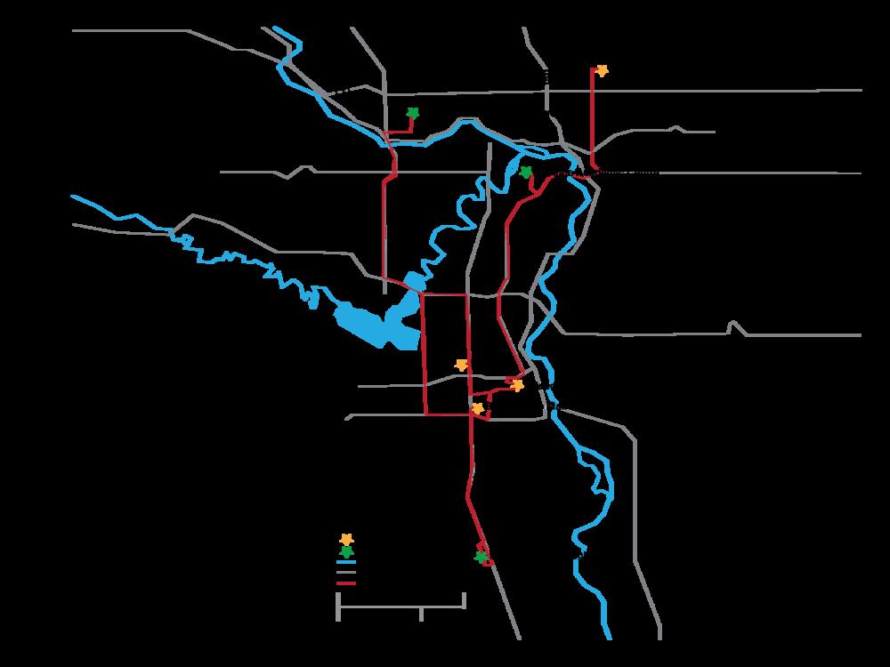 Vector YYC Map