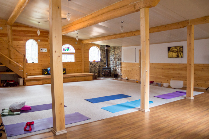 Click here for a Google Streetview 360 of the Yoga Space, complete with wood stove