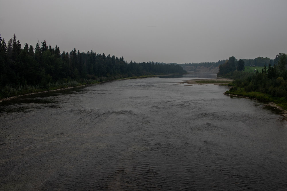 Smokey horizon over the Red Deer river