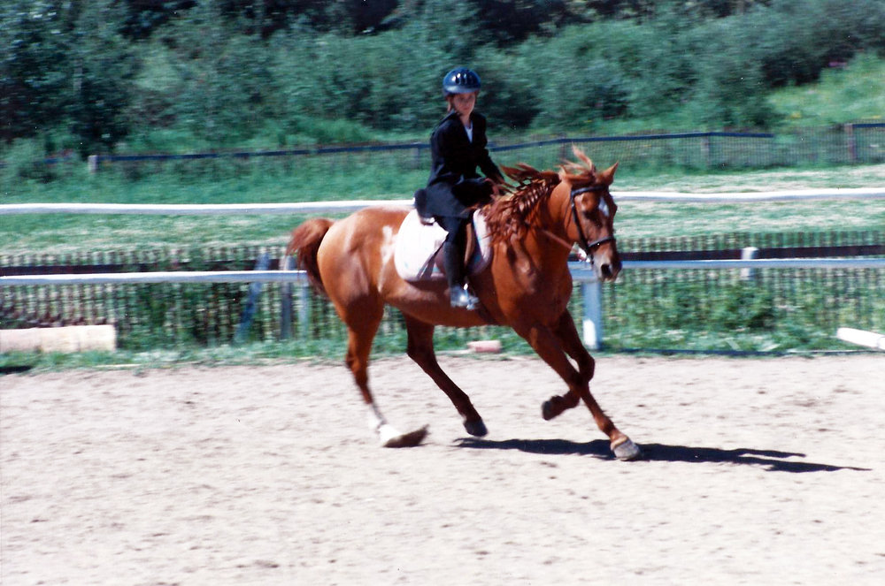 I think we got a pretty decent test score. Dressage has always been a favourite, I really miss it, and riding in general.