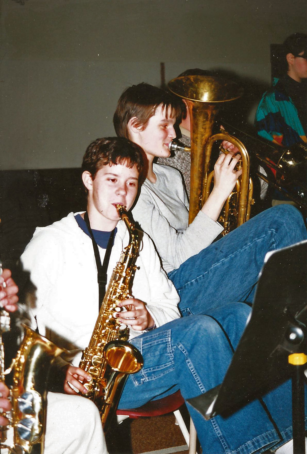 This would have been grade 7 or 8. I played saxophone once upon a time.