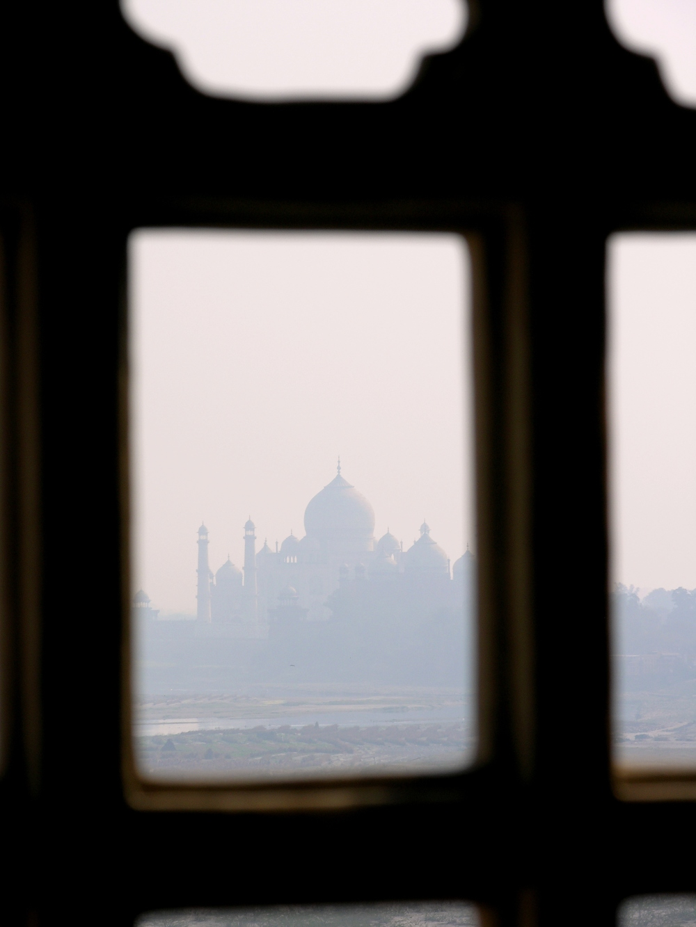 The Taj Mahal seen from the Agra Fort Photo credit: Sanjay Chatterji