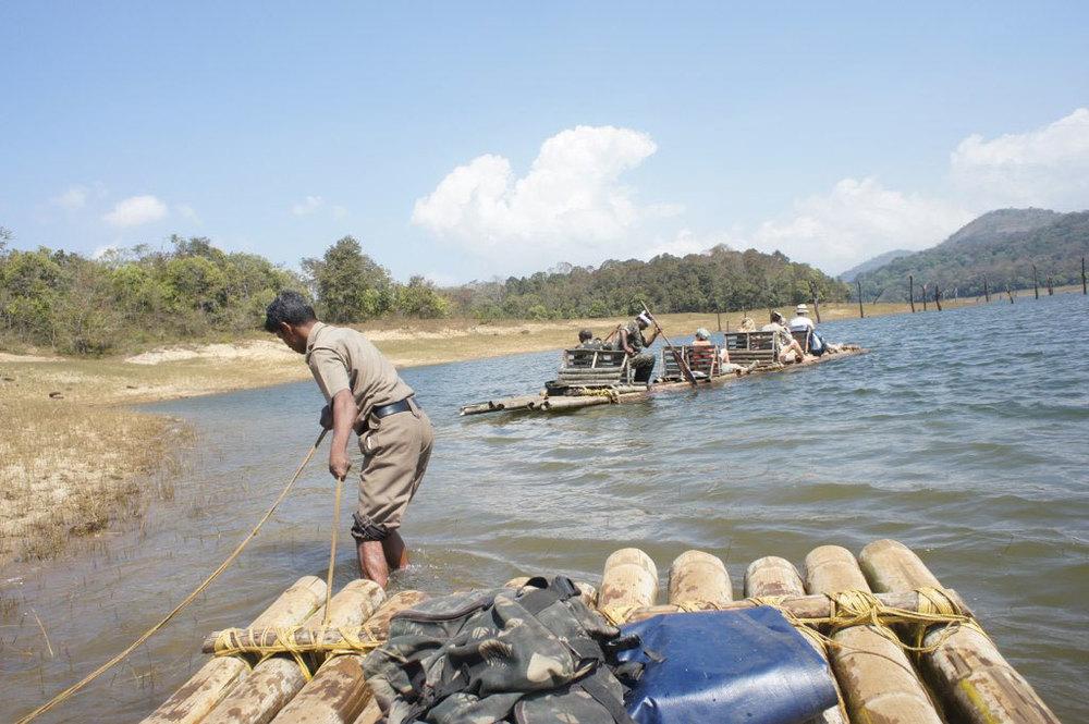 Bamboo rafting at Periyar, Thekkady Photo credit:  Esme Vos