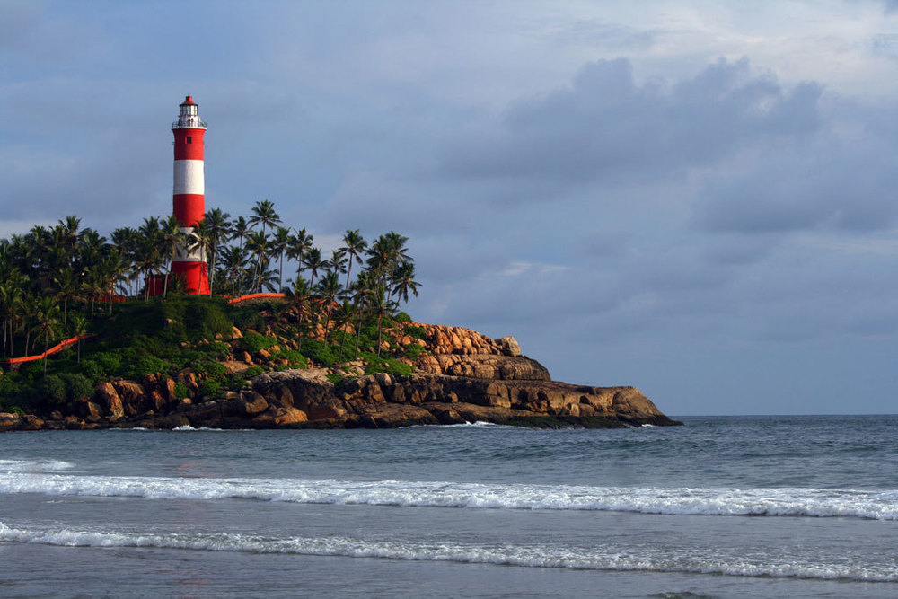 Lighthouse at Kovalam Beach Photo credit:  Girish Srinivasan