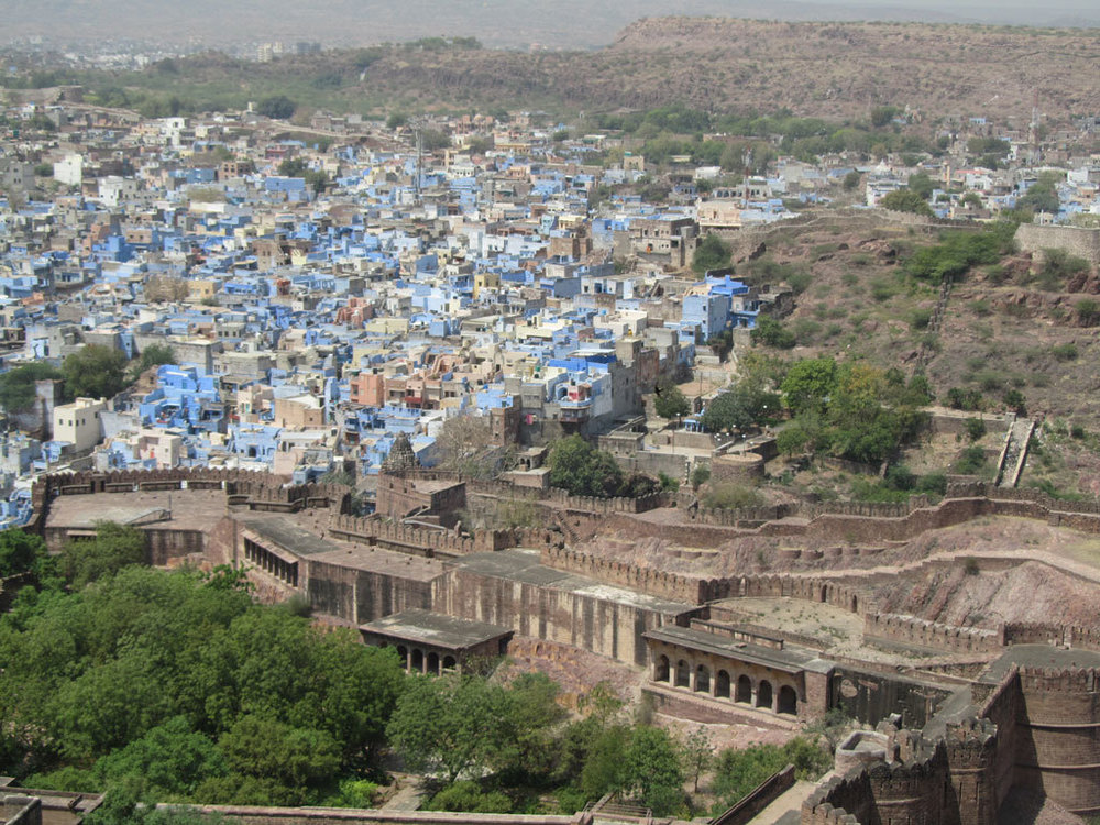 View of the blue town from Mehrangarh Fort, Jodhpur Photo credit: Rustom Katrak