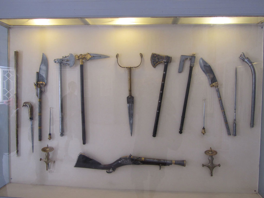 Antique weaponry at the Mehrangarh Fort museum, Jodhpur Photo credit: Rustom Katrak