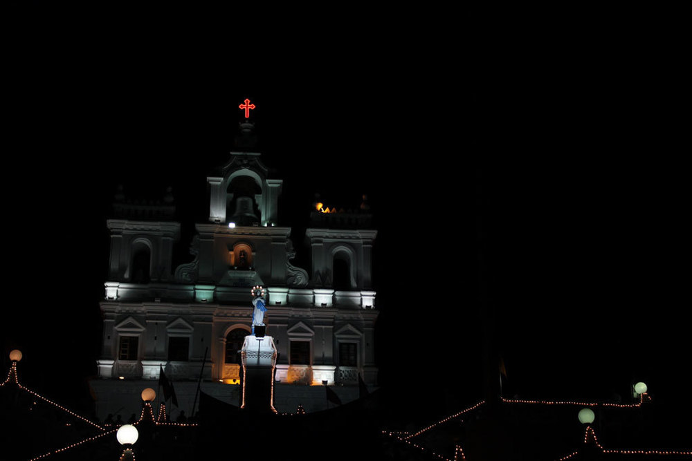 Panjim Church at night Photo credit:  Shahnawaz Sid