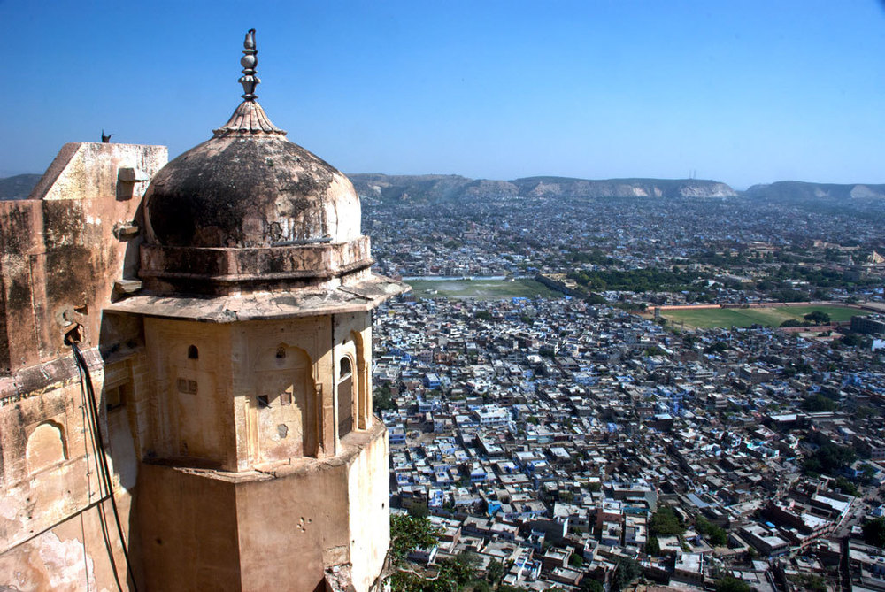 View of Jaipur from Nahargarh Fort Photo credit:  Kevin Jones