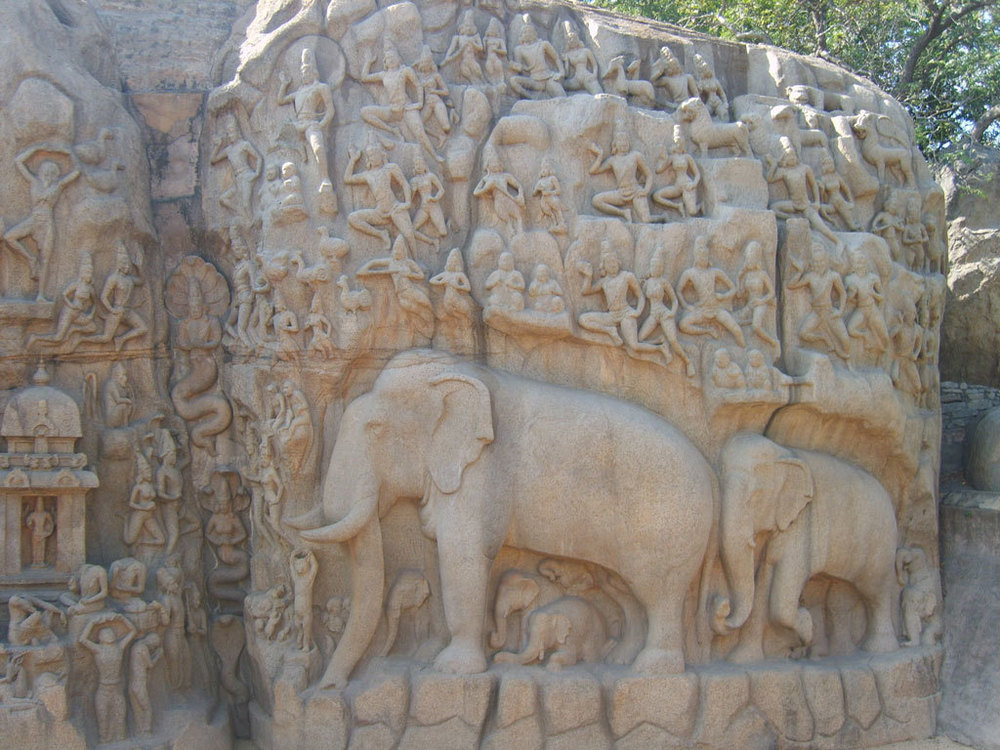 The Penance of Arjuna, Mahabalipuram Photo credit:  Senthil Kumar
