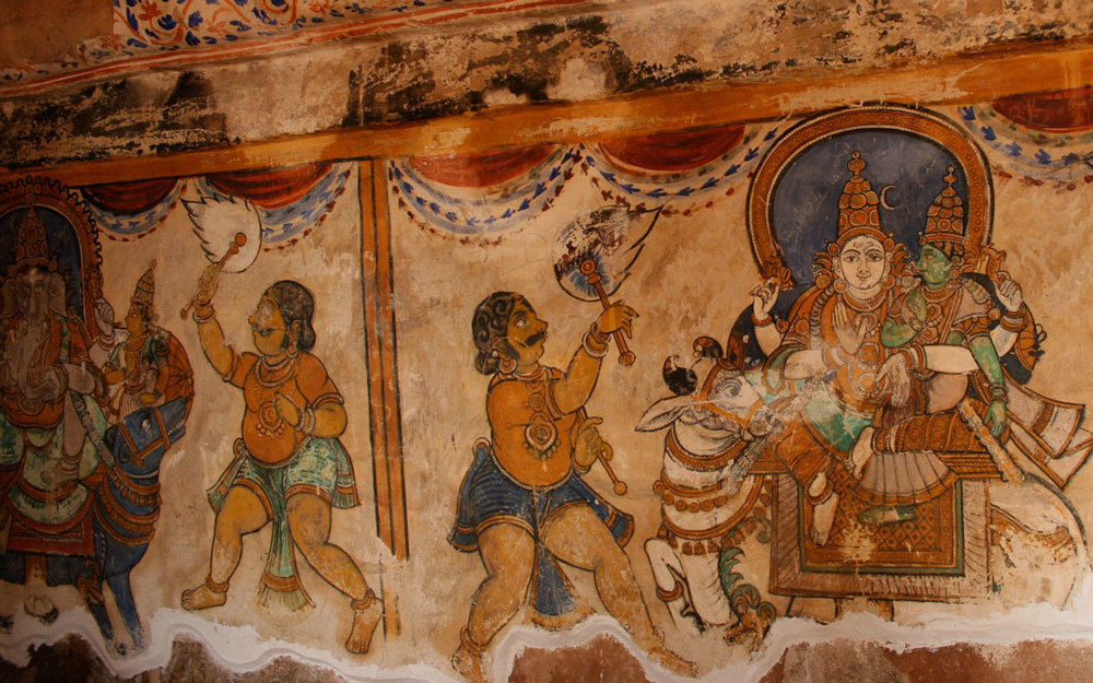 Mural at Brihadeeswara Temple, Tanjore Photo credit:  Nagarjun Kandukuru