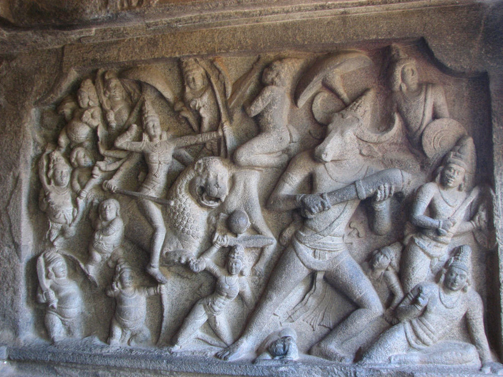 Detail at Mahabalipuram Temple Photo credit:  Uttkarsh