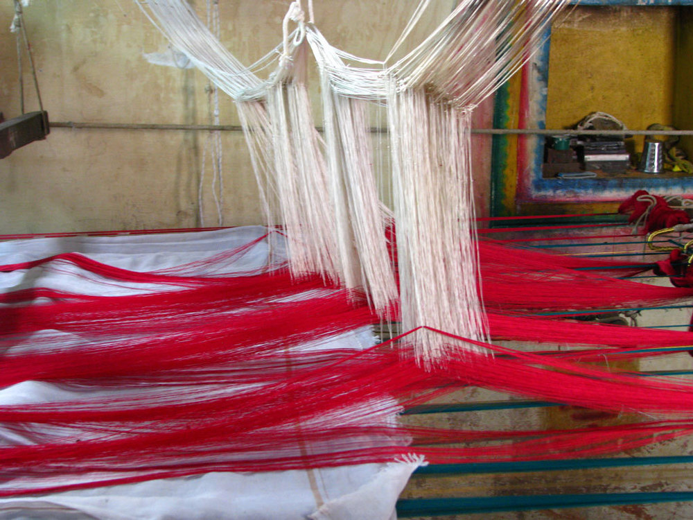 Silk sari weaving at Kanchipuram Photo credit:  McKay Savage