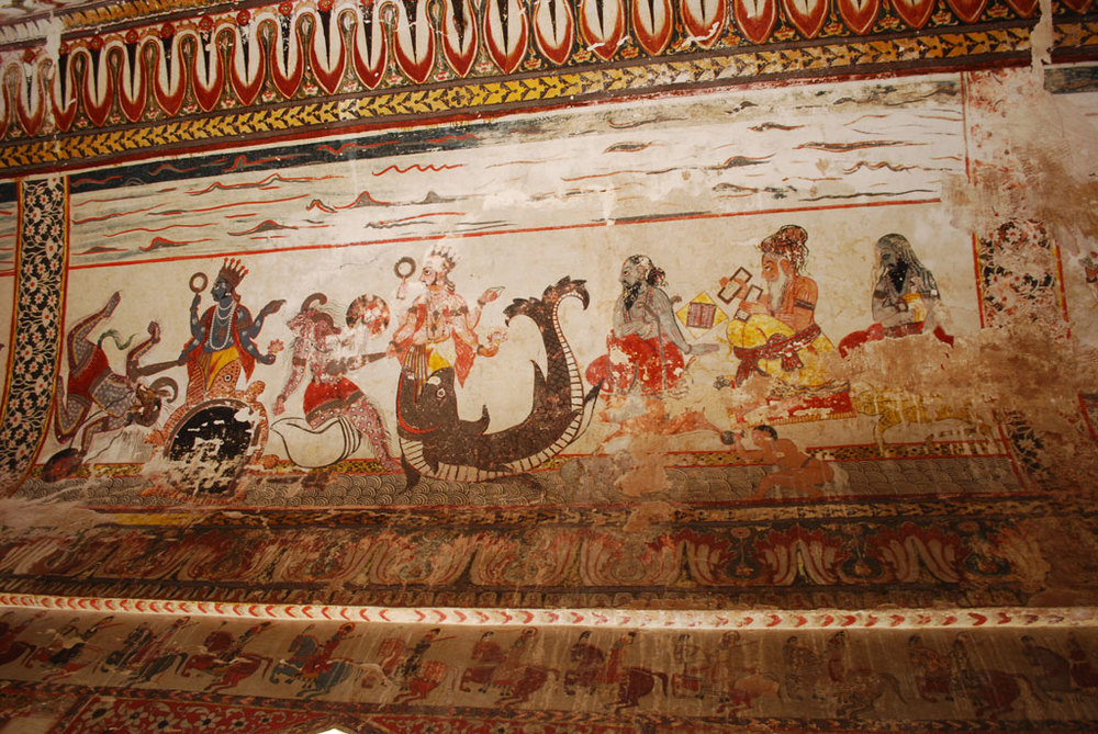 Mural at Orchha Photo credit:  Jeff Hart