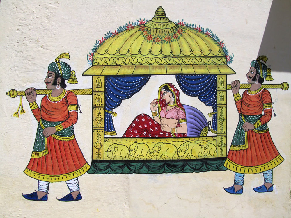 Rajasthani painting, Udaipur   Photo credit: Rustom Katrak