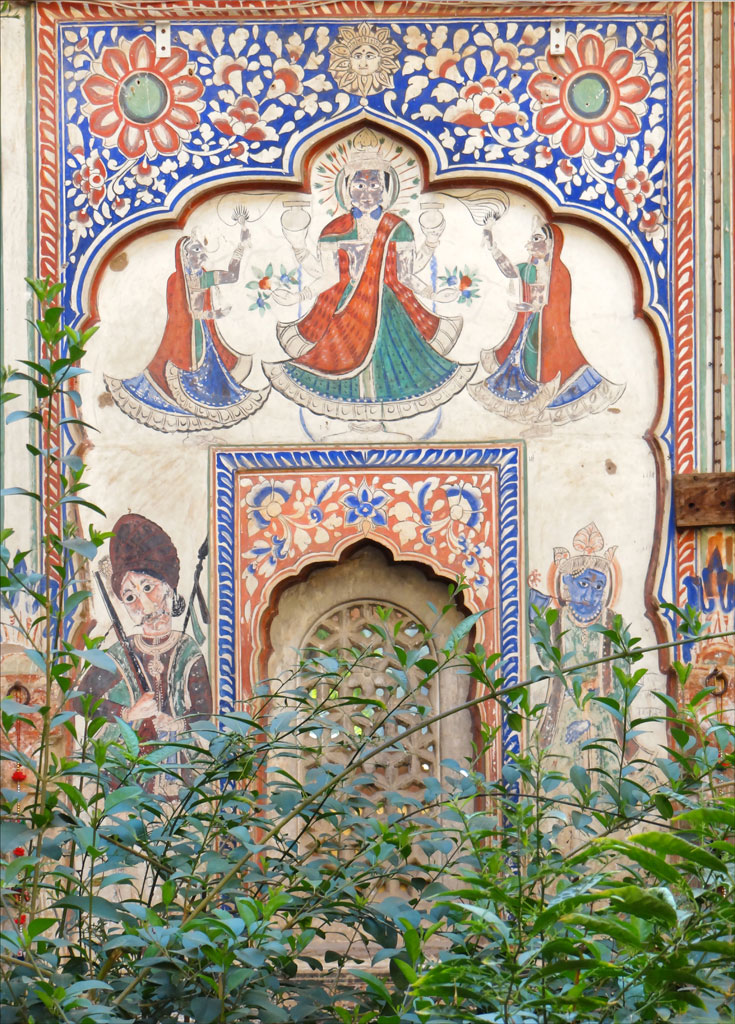 Mural at Shekhawati Photo credit:  Jean-Pierre Dalbéra