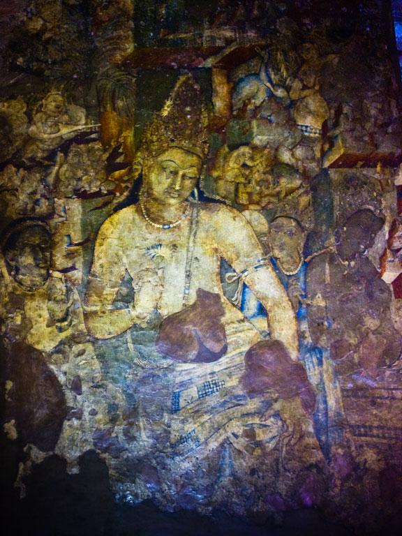 Bodhisattva Padmapani, Ajanta Photo credit:  Kunal Mukherjee
