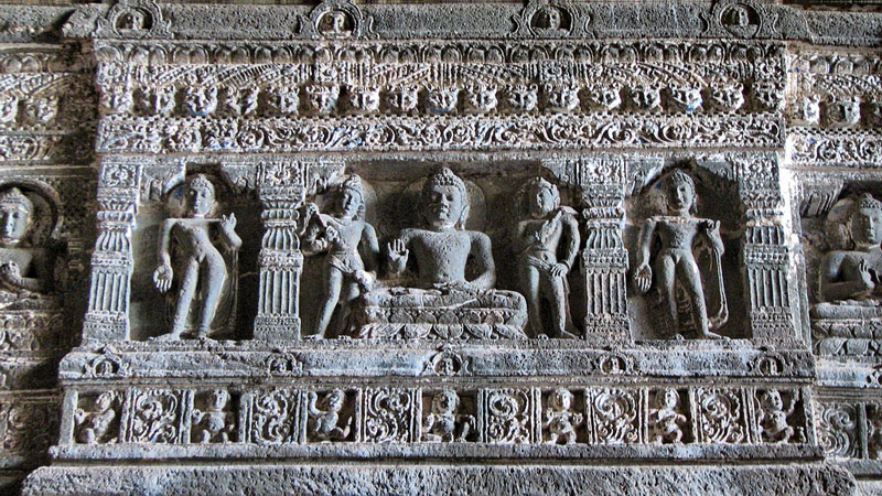 Sculptures at Ajanta Photo credit:  Danial Chitnis